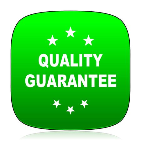 advantages: quality guarantee green icon for web and mobile app