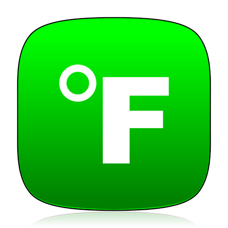 fahrenheit: fahrenheit green icon for web and mobile app