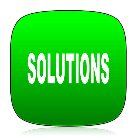 mobile solutions: solutions green icon for web and mobile app