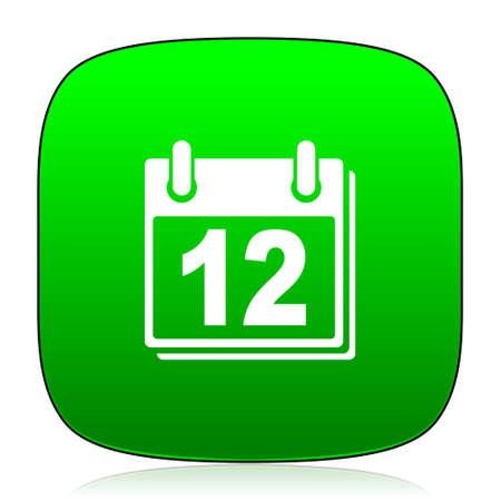 calendar icon: calendar green icon
