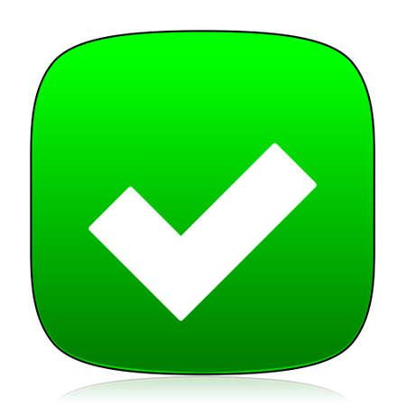to accept: accept green icon