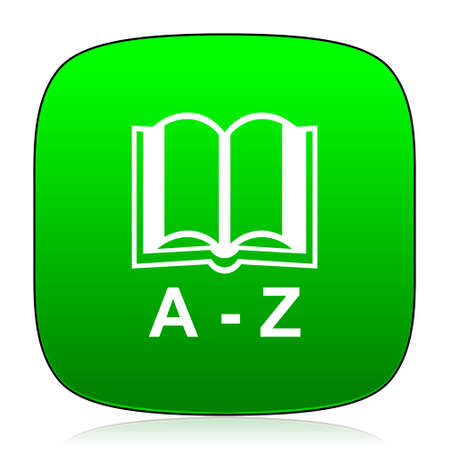 translator: dictionary green icon for web and mobile app