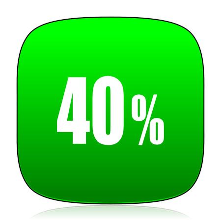40: 40 percent green icon