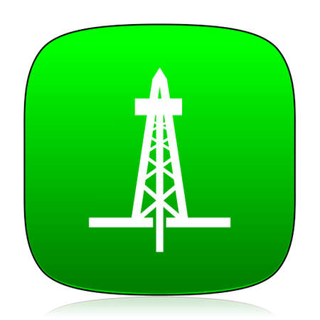 oil exploration: drilling green icon