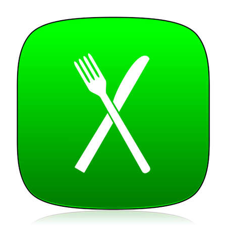 cater: restaurant green icon