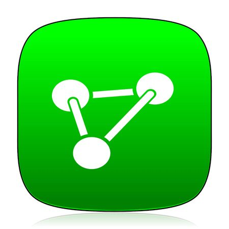 green chemistry: chemistry green icon for web and mobile app
