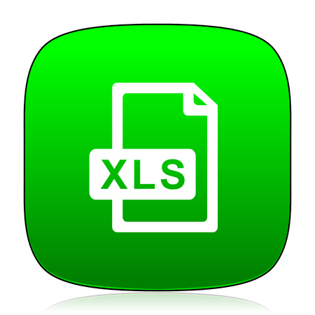 calc: xls file green icon Stock Photo
