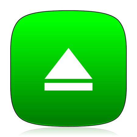 eject: eject green icon for web and mobile app