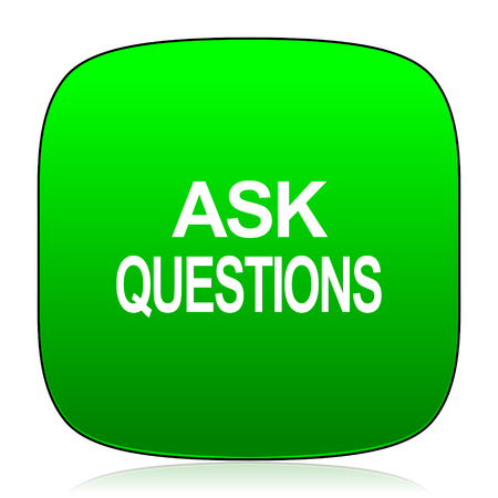 questions: ask questions green icon