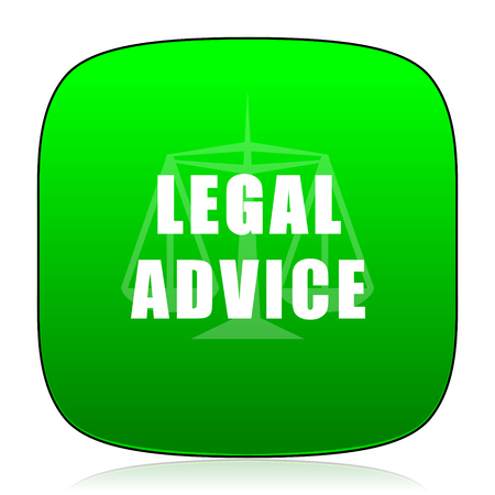 advice: legal advice green icon
