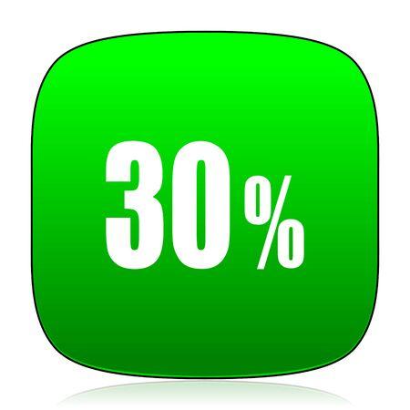 30: 30 percent green icon