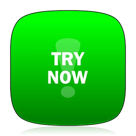 try: try now green icon