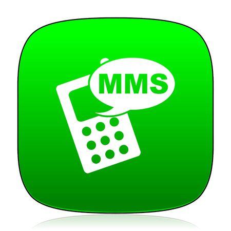 mms: mms green icon