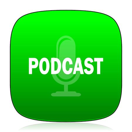 podcast: podcast green icon