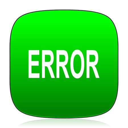 green issue: error green icon Stock Photo