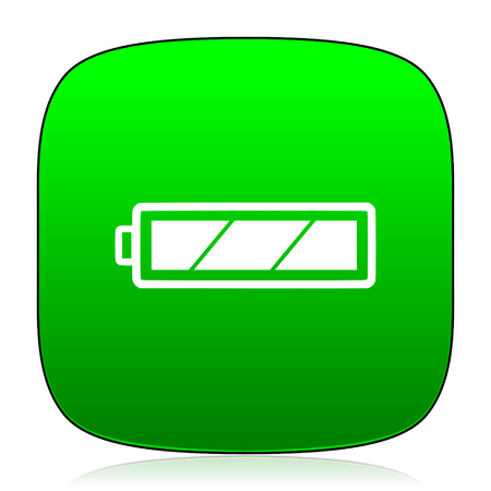 alkaline: battery green icon