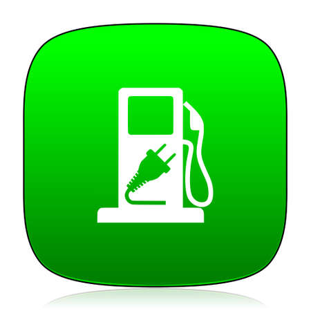 green fuel: fuel green icon for web and mobile app Stock Photo