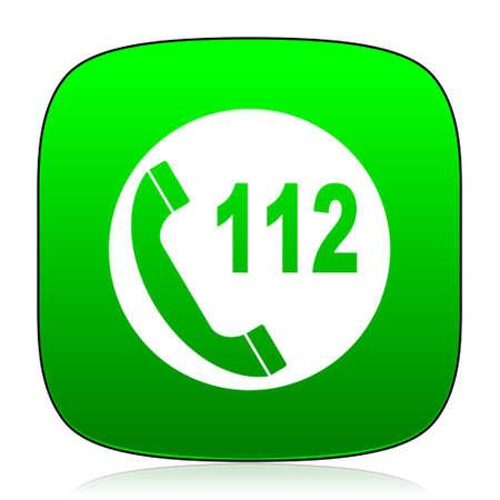 emergency call: emergency call green icon