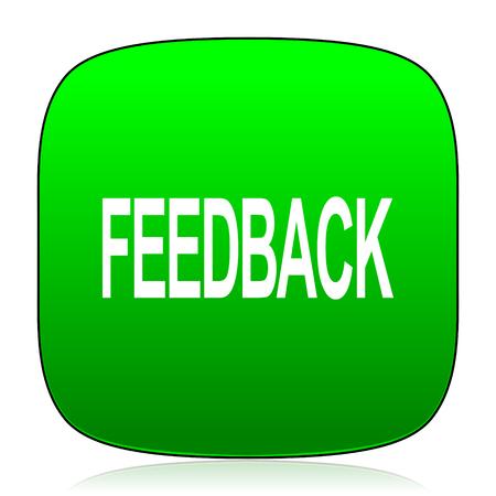 feedback: feedback green icon
