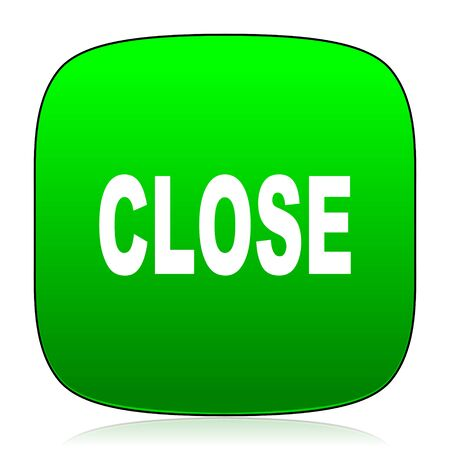 closure: close green icon for web and mobile app