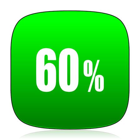 60: 60 percent green icon