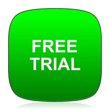 free trial: free trial green icon