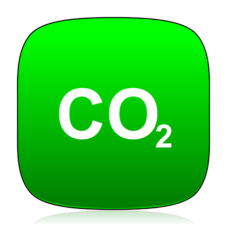 dioxide: carbon dioxide green icon