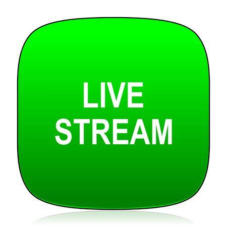 stream: live stream green icon