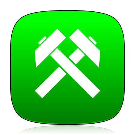 gold mine: mining green icon