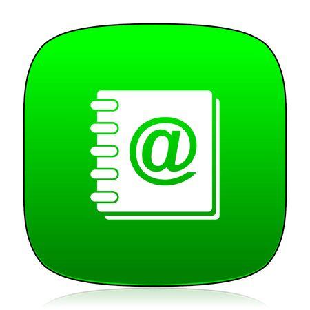 address: address book green icon
