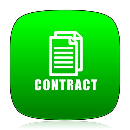 pacto: contrato icono verde