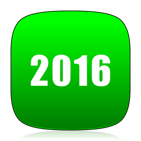 beginnings: year 2016 green icon