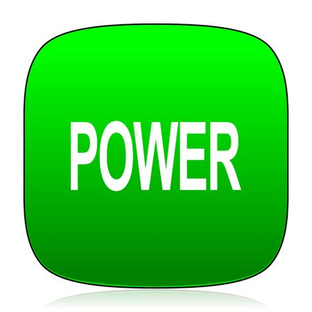 green power: power green icon