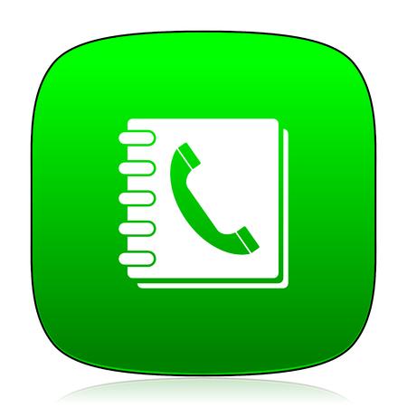 phonebook: phonebook green icon Stock Photo