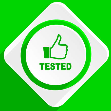 tested: tested green flat icon