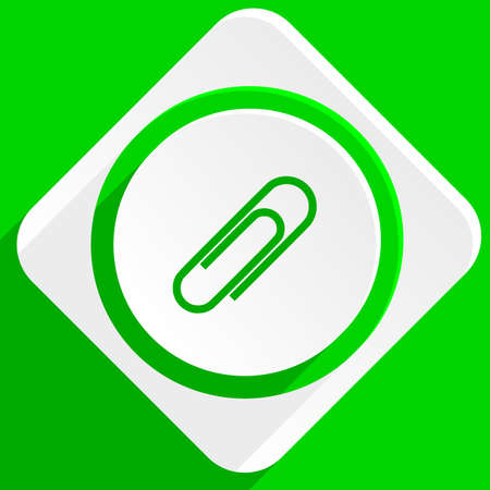 paperclip: paperclip green flat icon