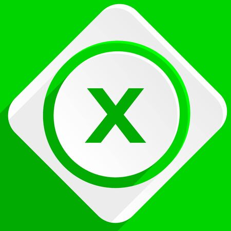 exclusion: cancel green flat icon
