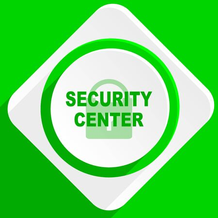 security icon: security center green flat icon