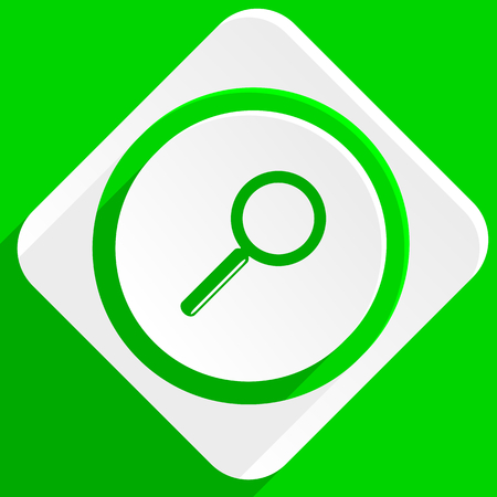 magnification icon: search green flat icon