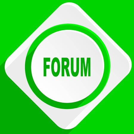 contacting: forum green flat icon