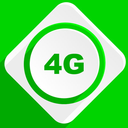 4g: 4g green flat icon