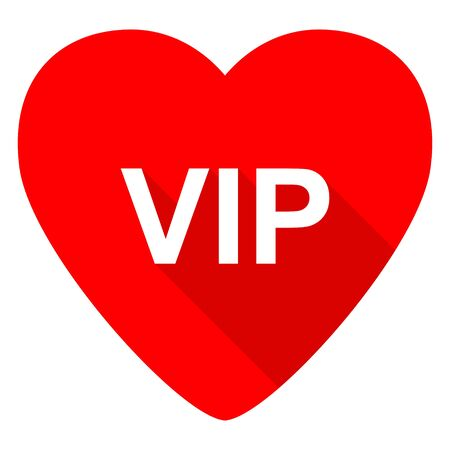 celebrities: vip red heart valentine flat icon Stock Photo