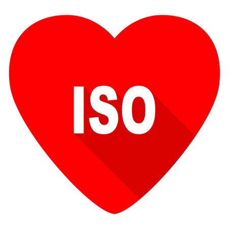 norm: iso red heart valentine flat icon