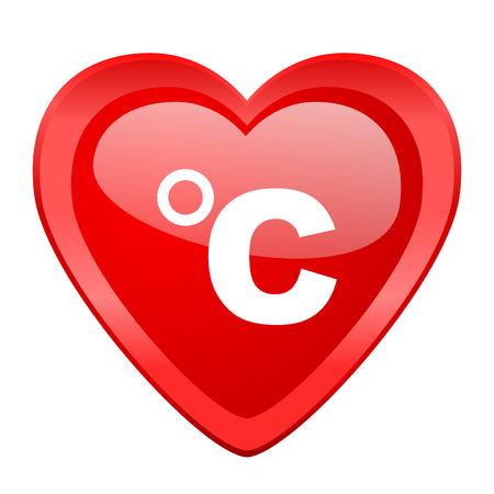 celsius: celsius red heart valentine glossy web icon