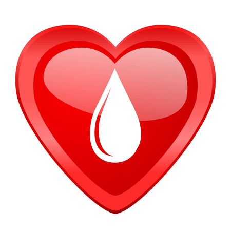 rain drop: water drop red heart valentine glossy web icon