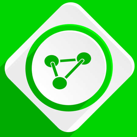 green chemistry: chemistry green flat icon