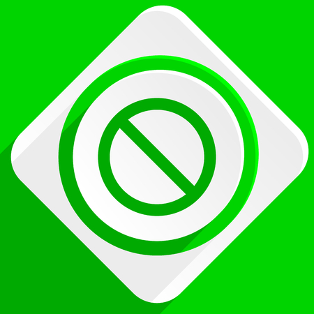 denied: access denied green flat icon