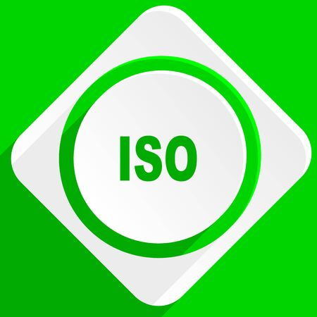 norm: iso green flat icon Stock Photo