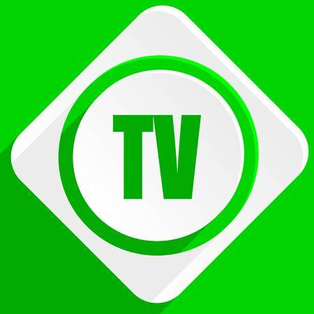 programm: tv green flat icon