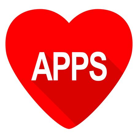 apps red heart valentine flat icon stock photo picture and royalty free image image 51033748 - Valentine Apps